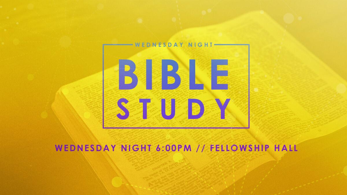 Wednesday Night Bible Study Breakouts