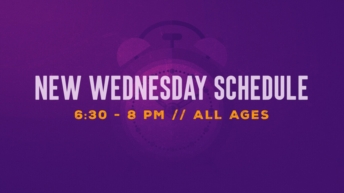 Wednesday Evening Schedule Change